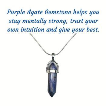 Purple Agate Gemstone Pendant